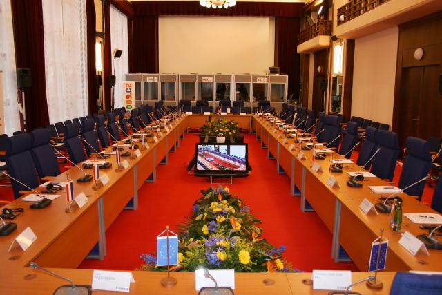 V Společenskom dome v Luhačoviciach sa v roku 2009 uskutočnilo Zasadnutie ministrov EU